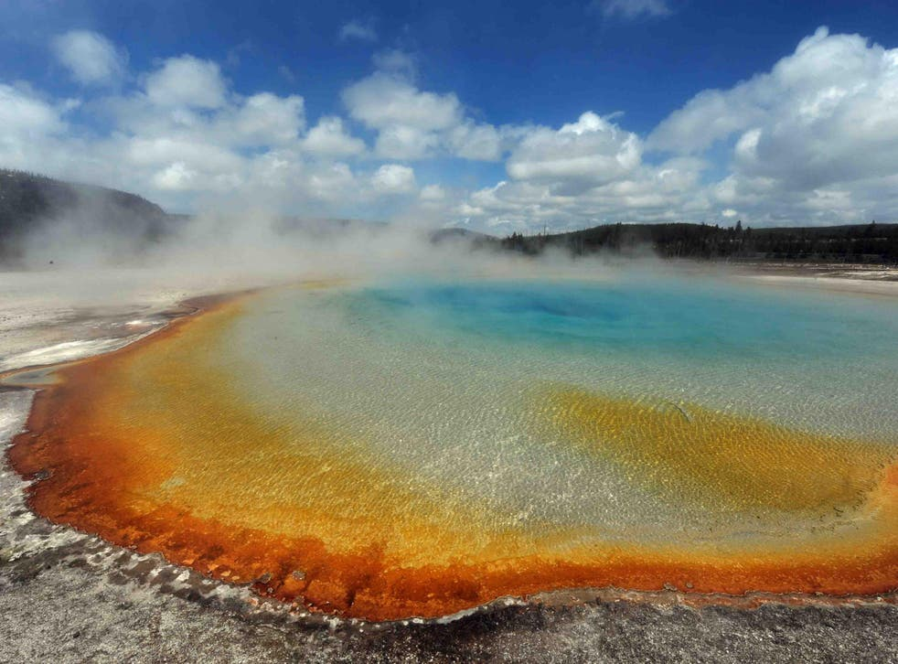 Evidence suggests that Yellowstone's supervolcano mounts a massive eruption once every 600,000 to 800,000 years