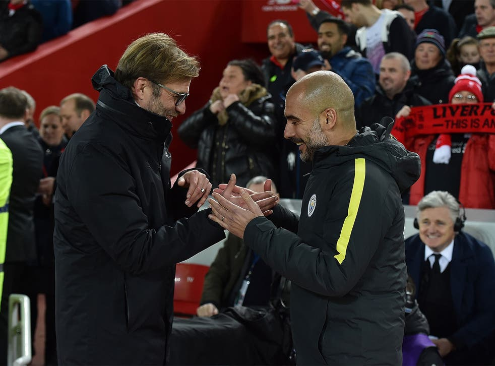 Jurgen Klopp and Pep Guardiola get on, but their philosophies remain different