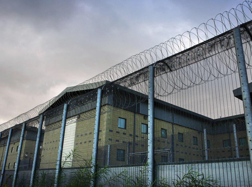 Harmondsworth detention centre, near Heathrow, holds around 400 men