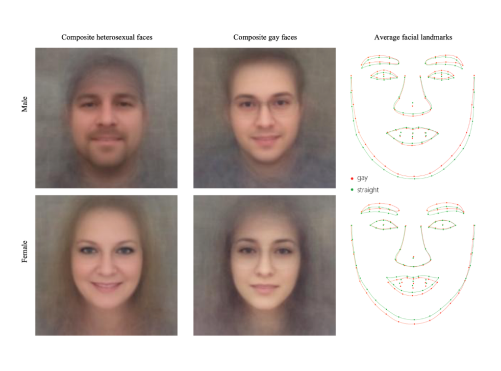 The algorithm took into account both 'fixed' and 'transient' facial features