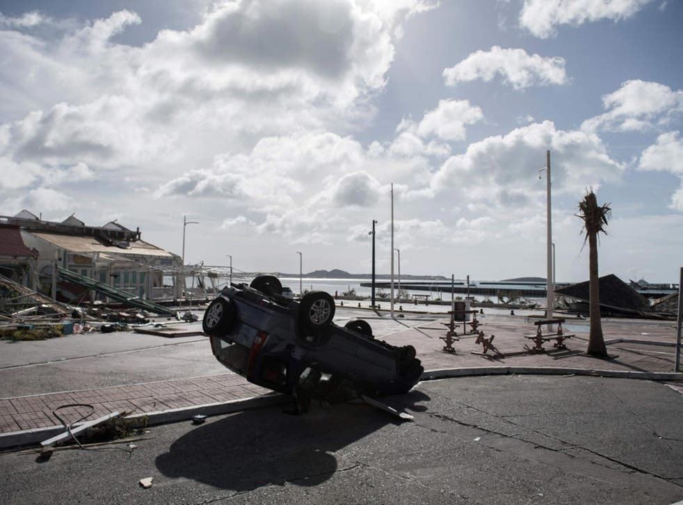 St Martin is one of the Caribbean islands to have been hit by Hurricane Irma