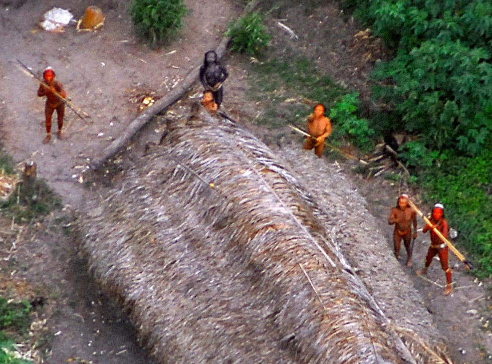 Members of an uncontacted tribe in Brazil in 2008. Indigenous groups in the Amazon are under increasing threat