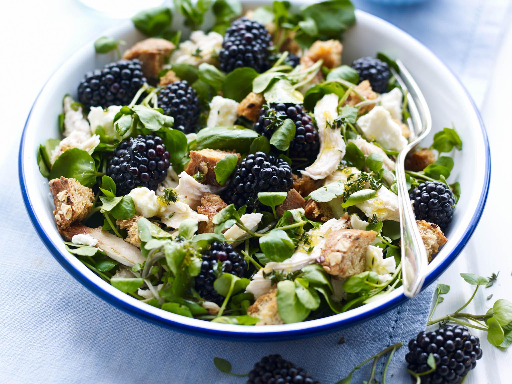 How to make chicken and blackberry salad | The Independent