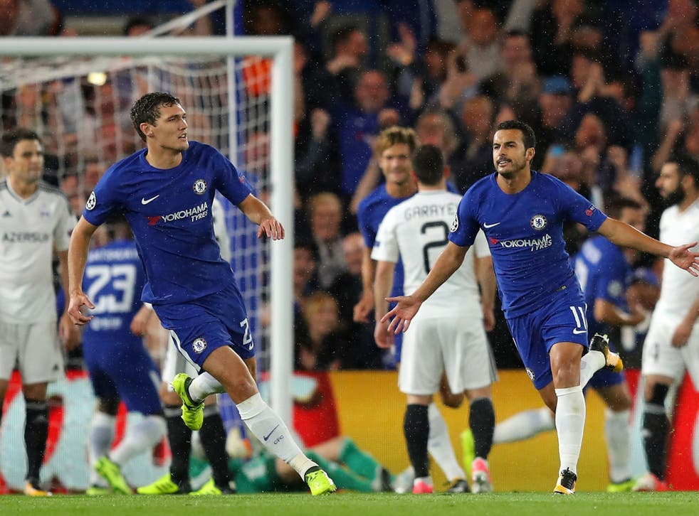 Pedro gave Chelsea the lead against Qarabag