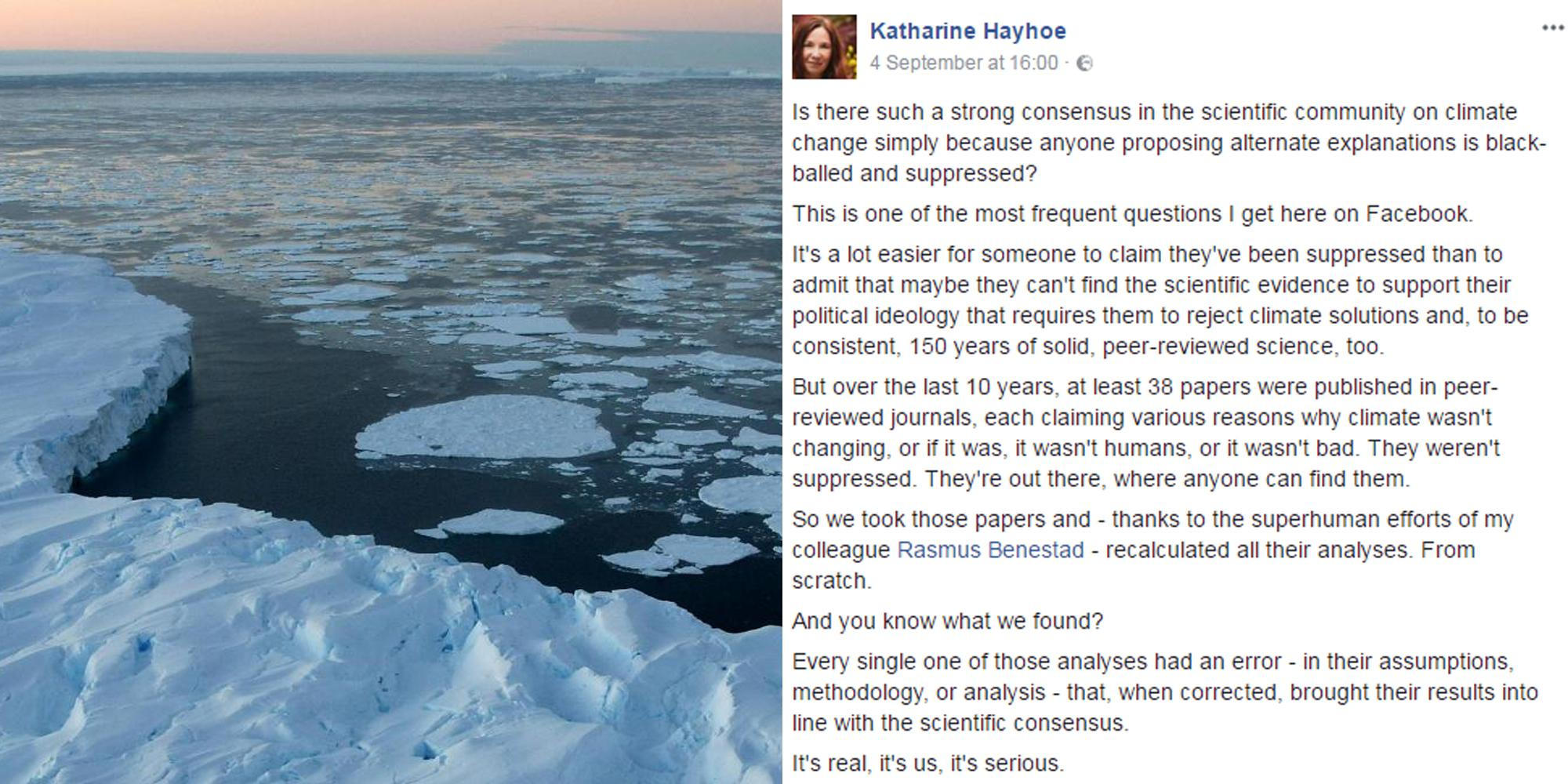 This scientist destroyed climate change deniers in a single viral post