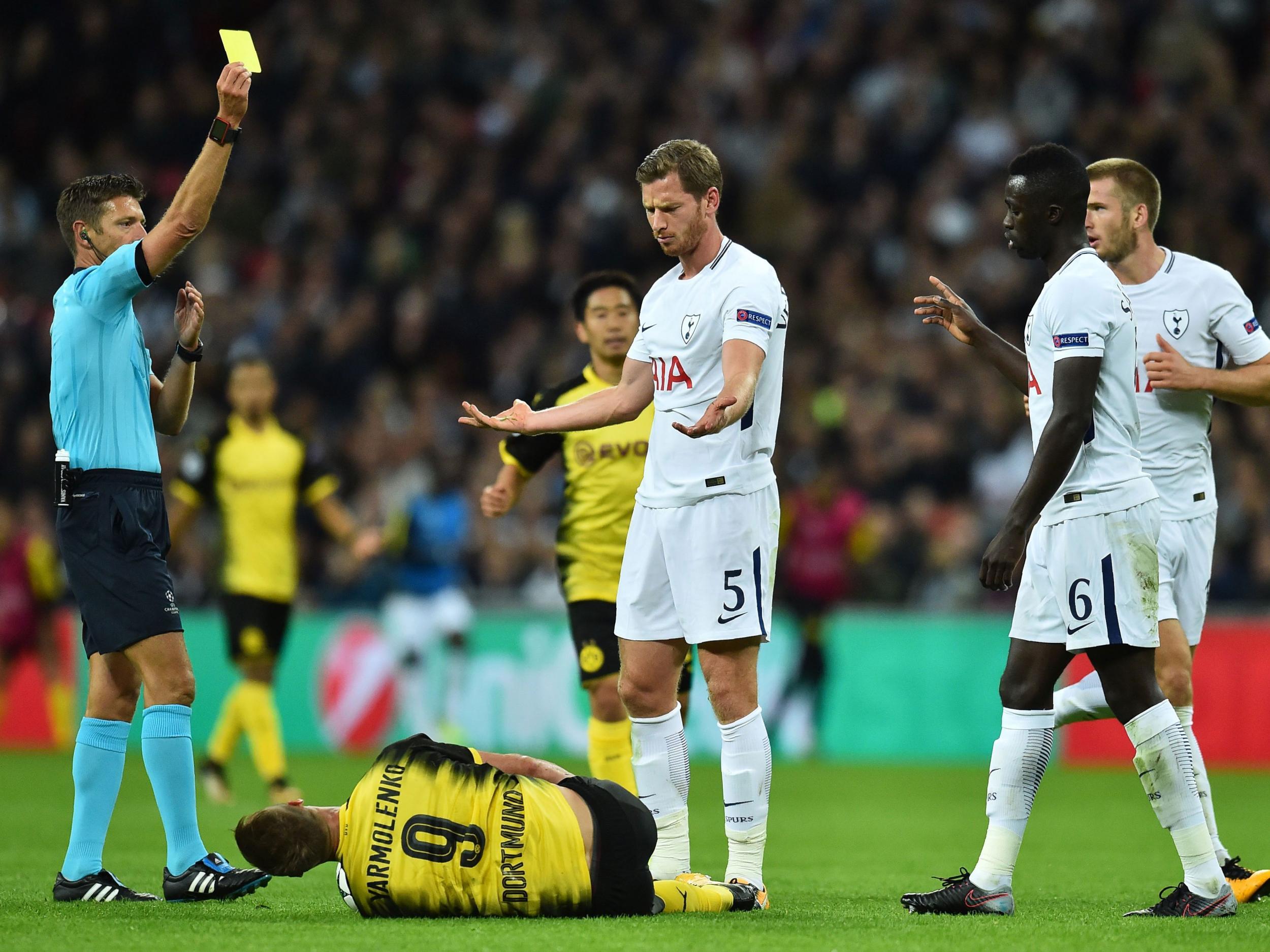 Tottenham s Jan Vertonghen accuses Dortmund players of