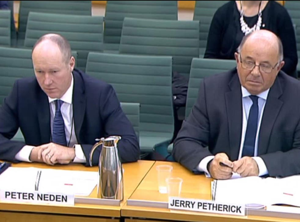 G4S managers Peter Neden and Jerry Petherick were questioned by the Home Affairs Committee on 14 September