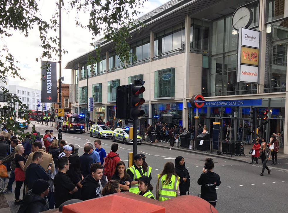 Fulham Broadway station was evacuated