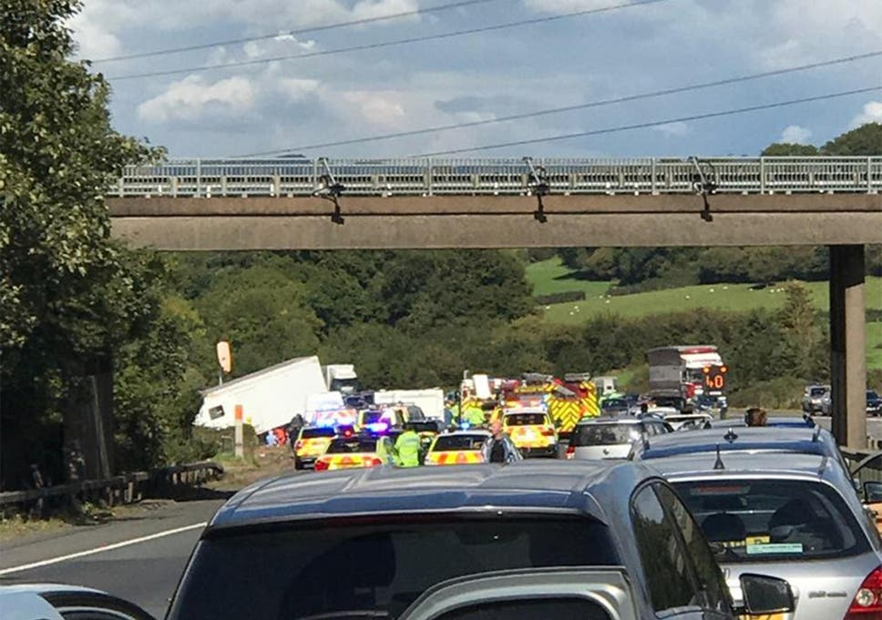 M5 motorway pile-up in Gloucestershire leaves at least four dead