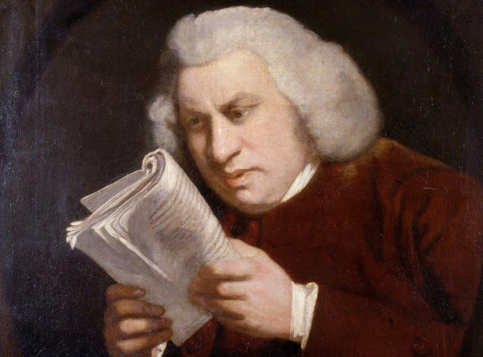 Sir Joshua Reynolds famous portrait of Dr Johnson