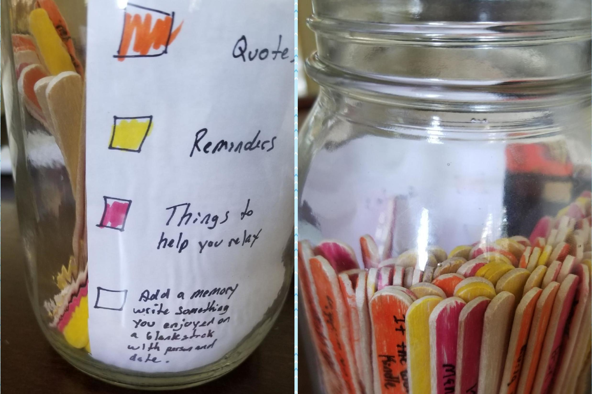 Boyfriend makes affirmation jar to help partner's anxiety and depression