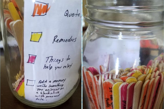 Boyfriend Makes Affirmation Jar To Help Partner S Anxiety And Depression The Independent The Independent