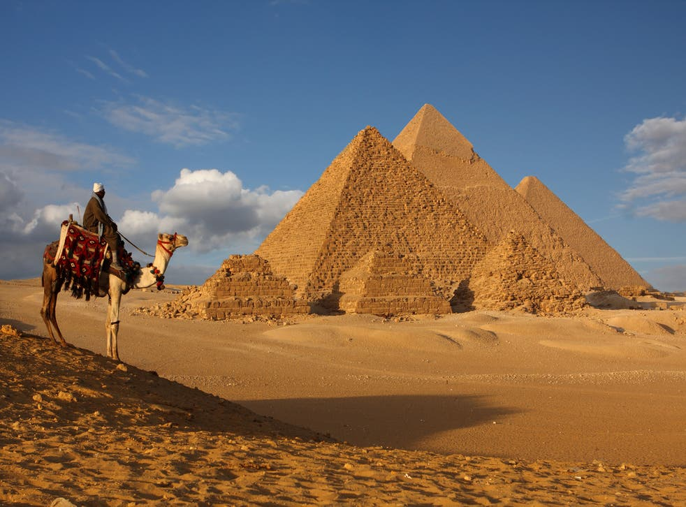 The Pyramids of Giza in Egypt, a Unesco World Heritage site