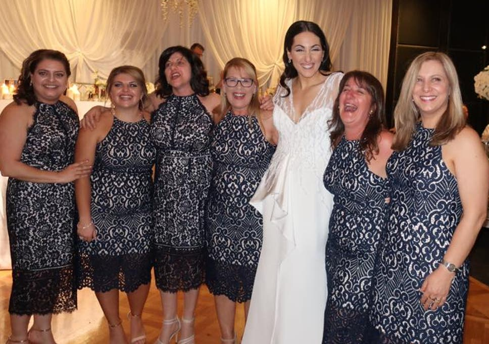 8c7f371c8b7dd Six wedding guests turn up wearing the same dress   We are not the  bridesmaids