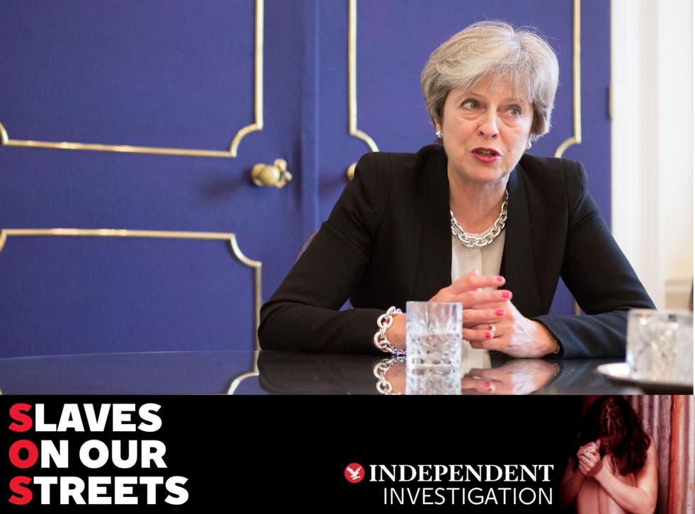 Prime Minister Theresa May at 10 Downing Street