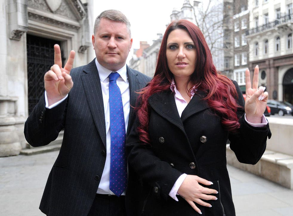 Paul Golding and Jayda Fransen, the leader and deputy leader of Britain First