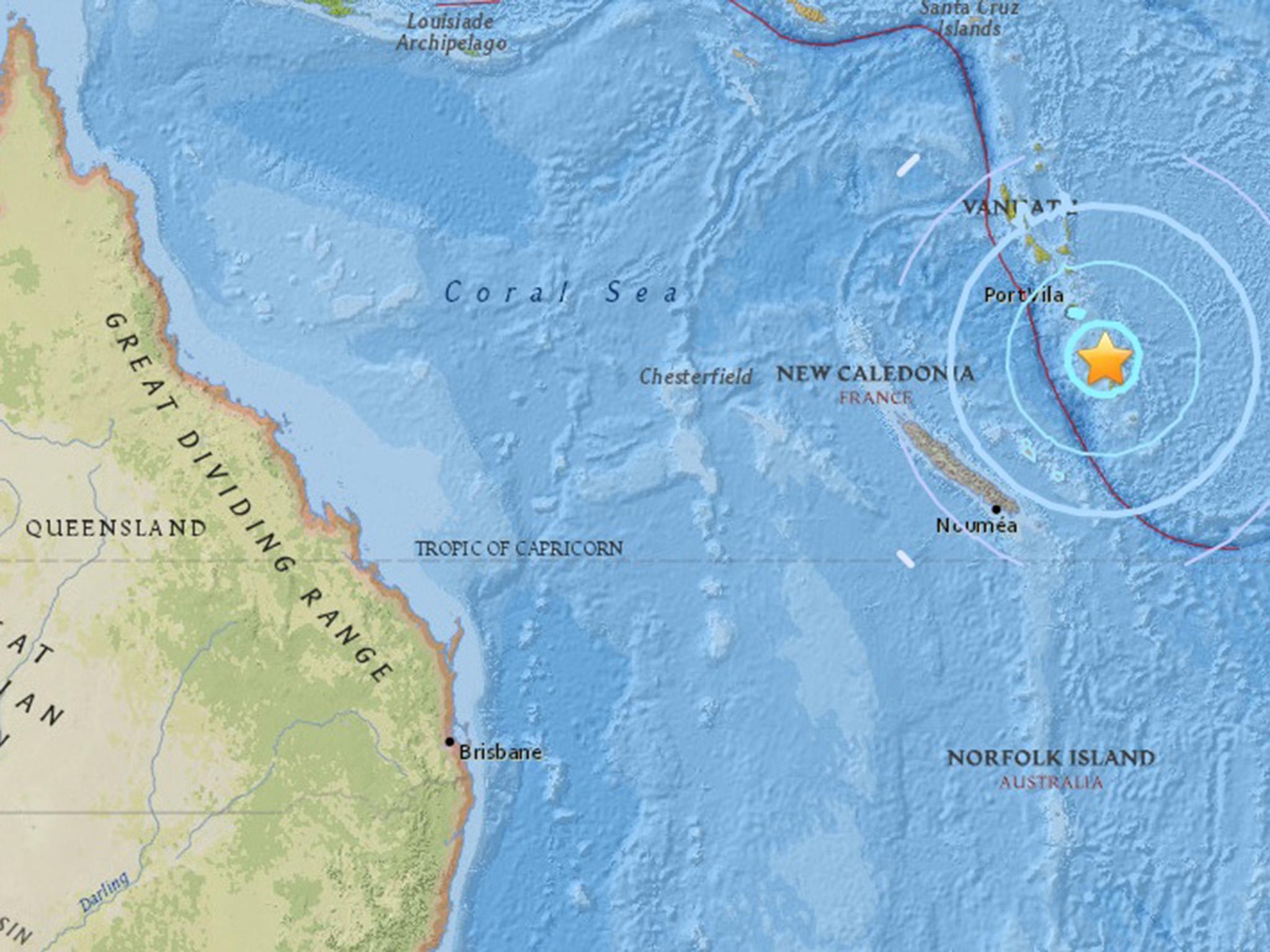 vanuatu earthquake  powerful 6 4 magnitude quake hits off