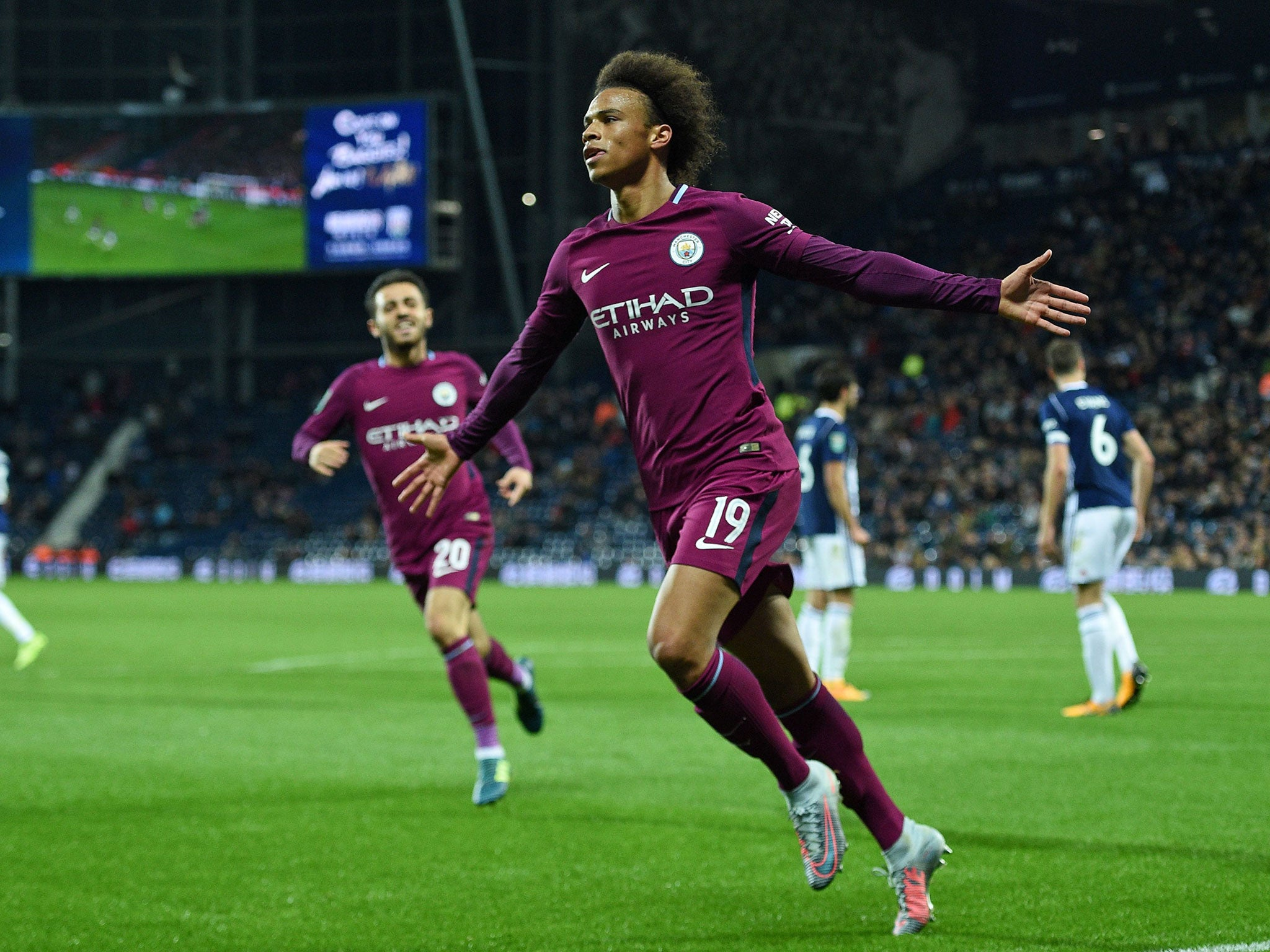 Leroy Sane double clinches Manchester City EFL Cup victory over