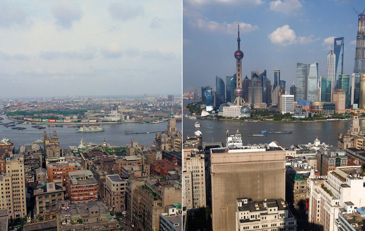 24 before-and-after photos that show how fast the world changes