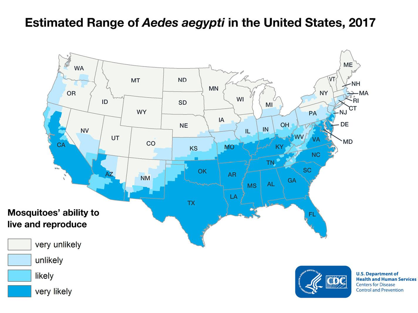 Mosquitoes carrying deadly diseases could invade 75% of ... on cdc stroke map, cdc cold map, cdc anxiety map, cdc flu outbreak map, cdc fire map,