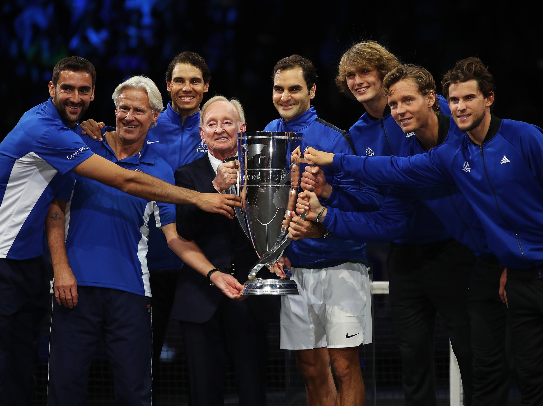 Roger Federer leads Team Europe to inaugural Laver Cup ...