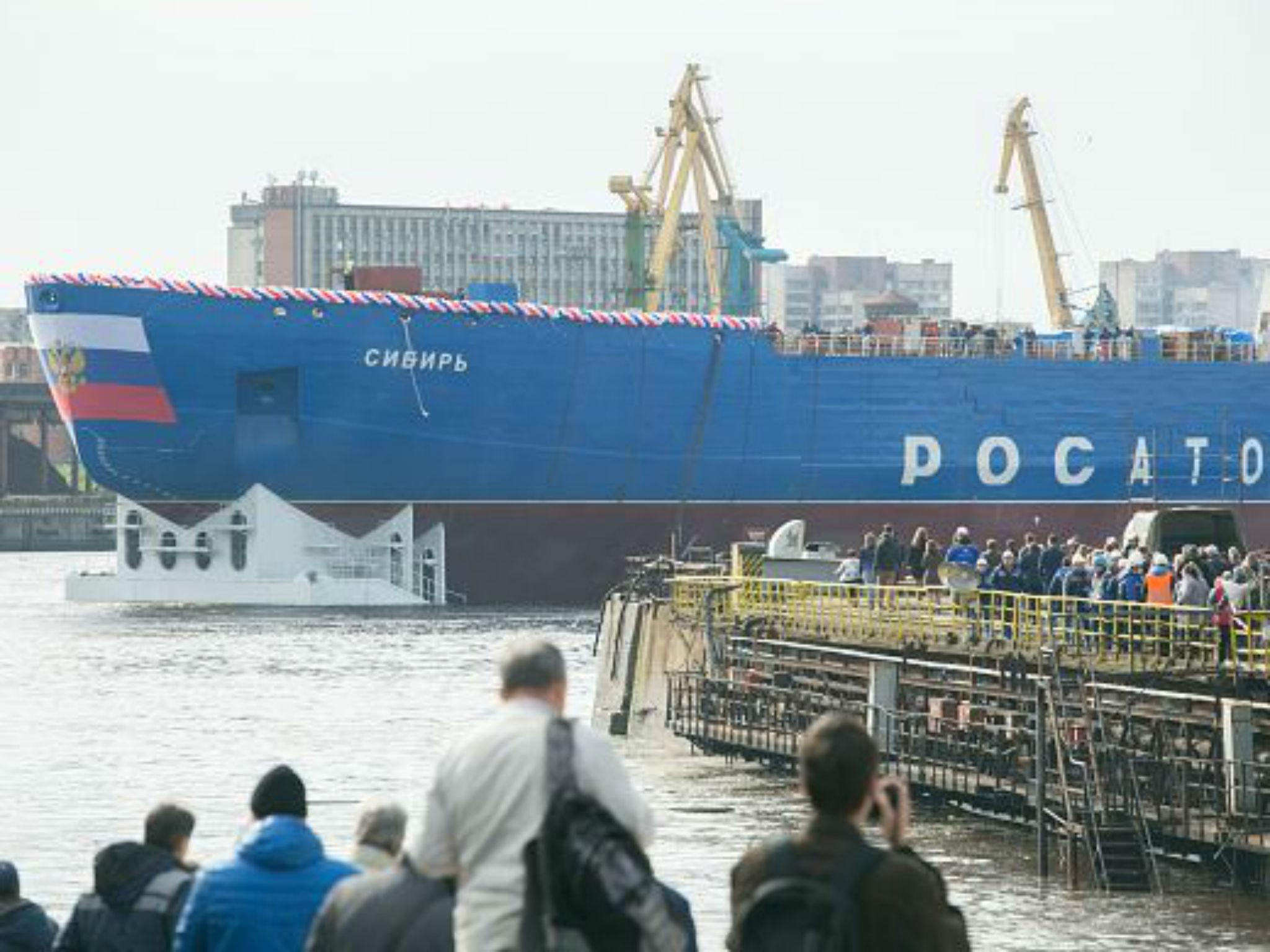 Russia launches 'world's biggest and most powerful' nuclear ship