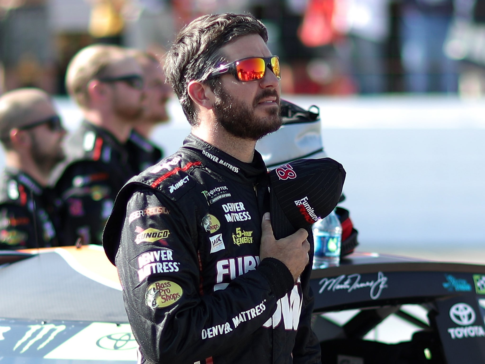 nascar drivers kneel during anthem