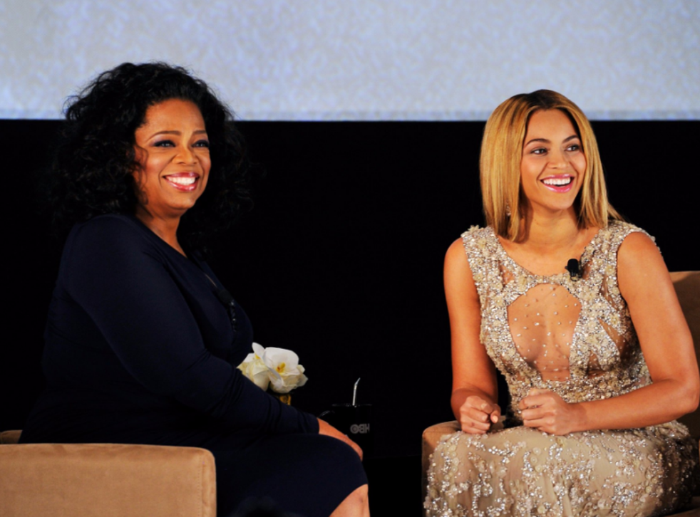 """Oprah Winfrey and Beyoncé at the NYC opening of the singer's HBO documentary, """"Life Is but a Dream."""""""
