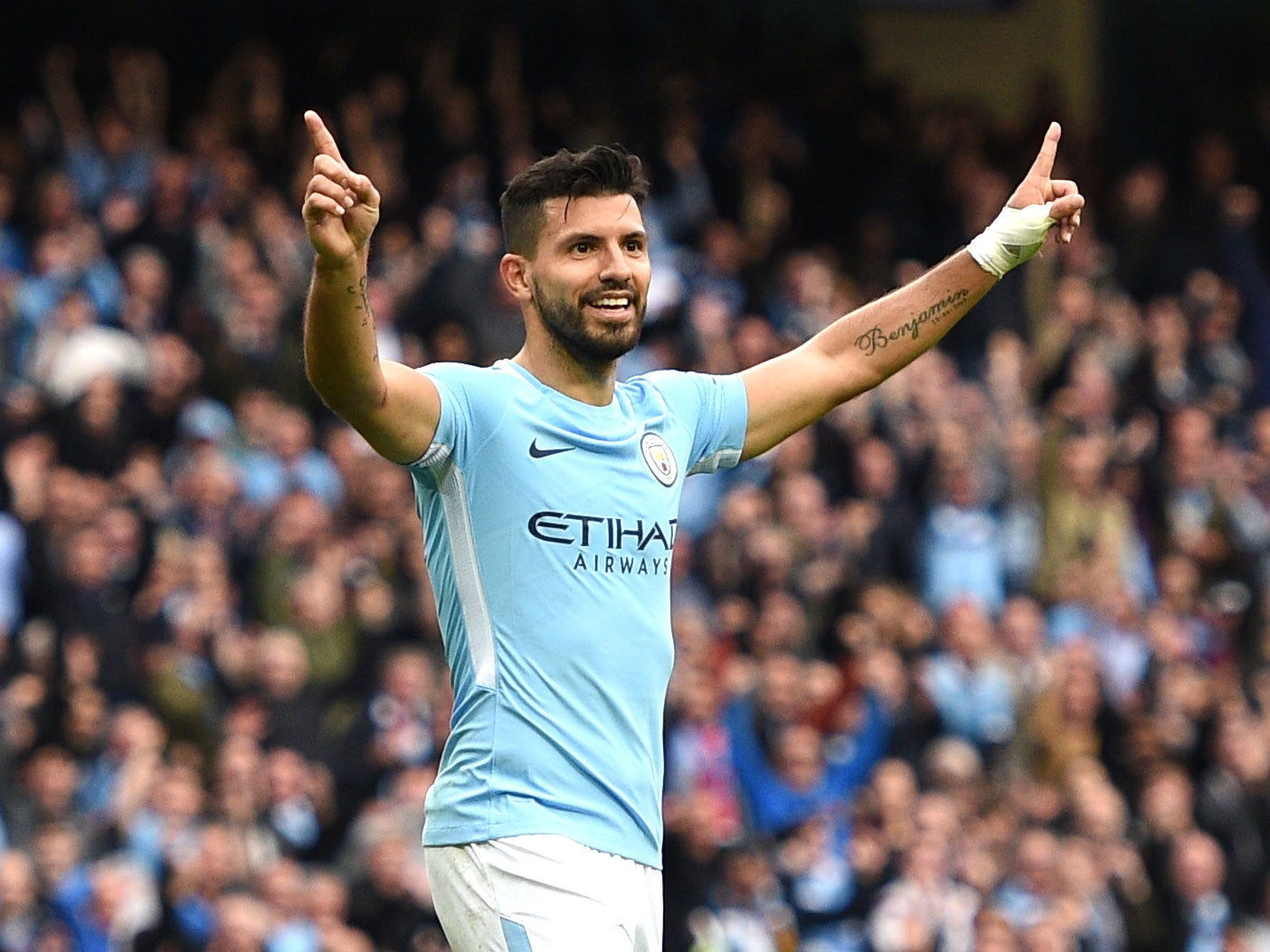 Manchester City now playing more with Sergio Aguero as striker
