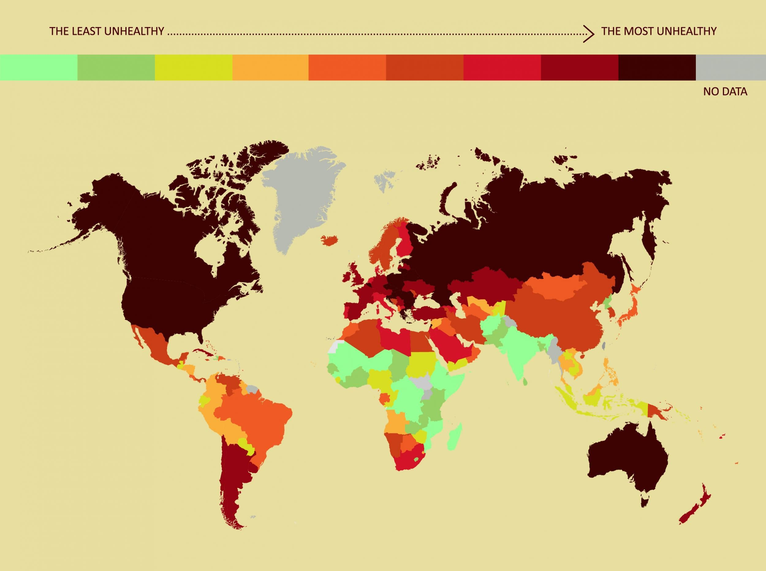 The dirtiest countries in the world