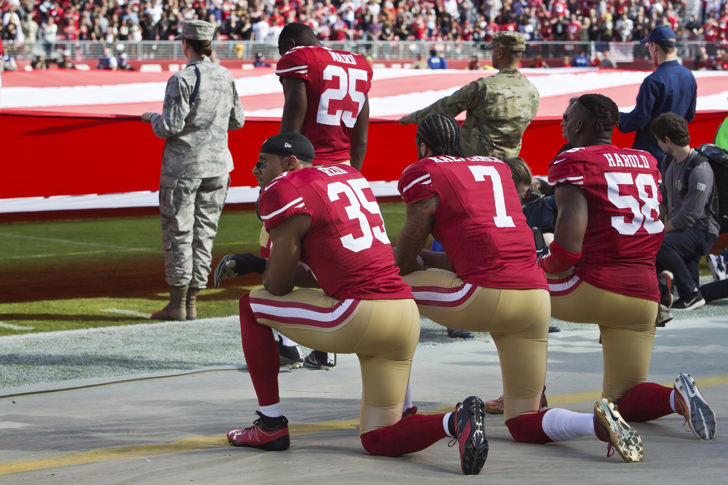 1ca39cba3 Taking a knee  Why are NFL players protesting and when did they start to  kneel