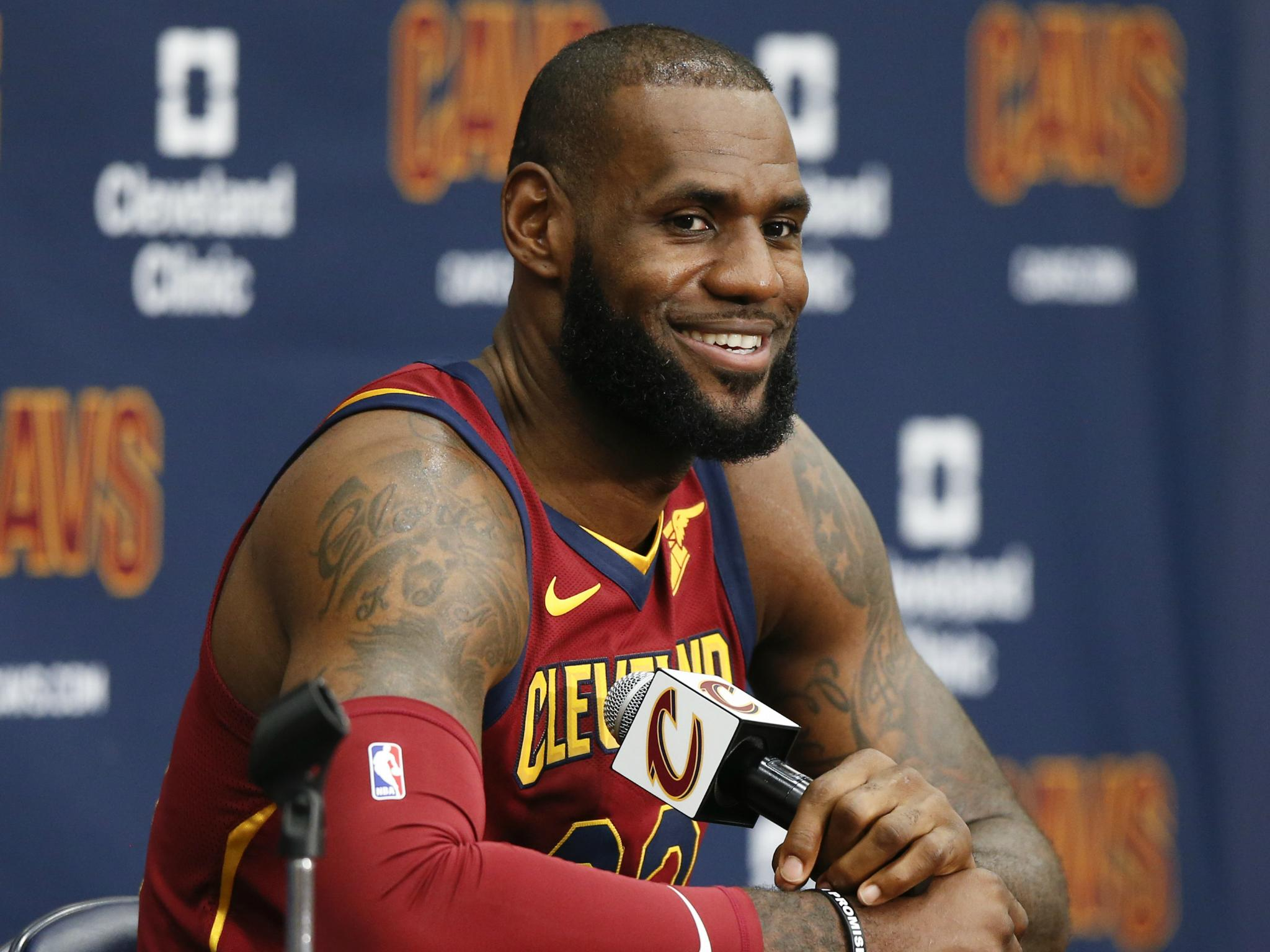 4f607462a16 LeBron James says Donald Trump is 'dividing us' as his new public school  opens | The Independent