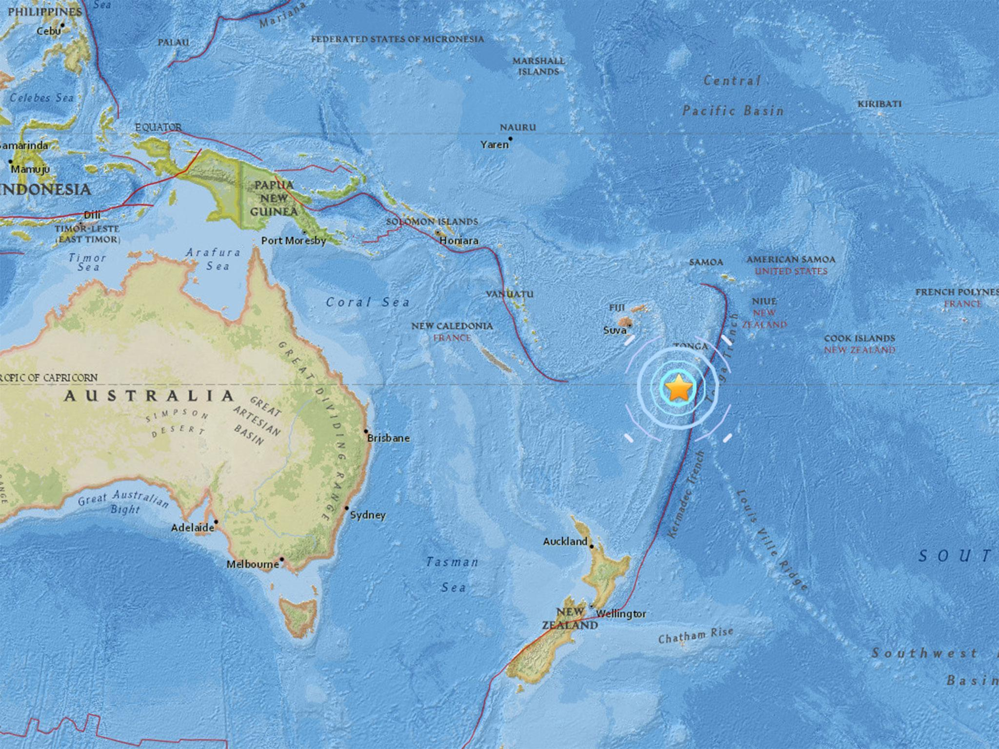 Fiji Earthquake 6 5 Magnitude Tremor Hits Pacific Off Fijian Islands The Independent