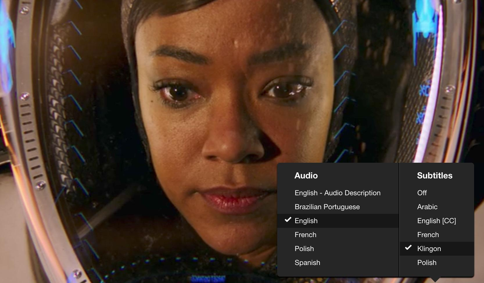 Star Trek: Discovery: Netflix adds Klingon subtitle feature