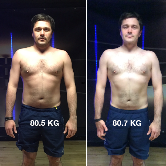 How long to replace fat with muscle