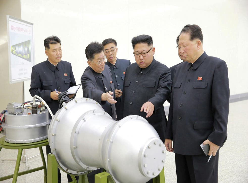 North Korean leader Kim Jong-un inspects a nuclear weapons programme in a photo released by the DPRK's state new agency