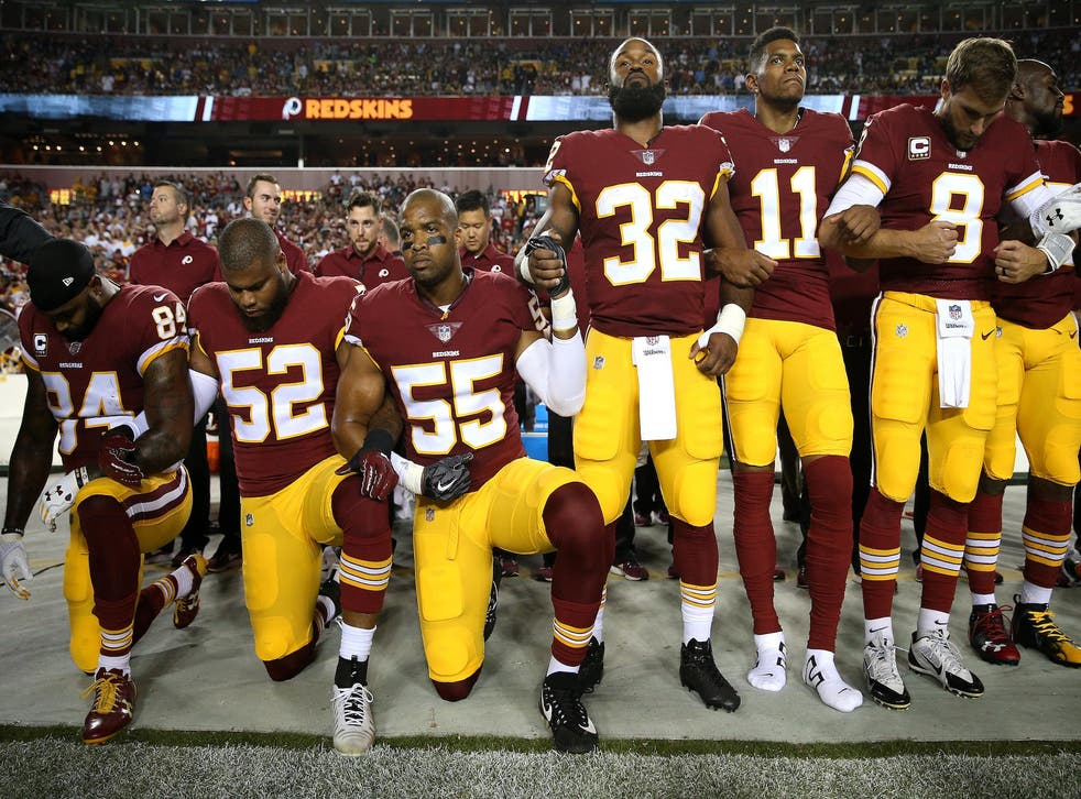 NFL players have been kneeling to raise awareness of issues with equality and police brutality
