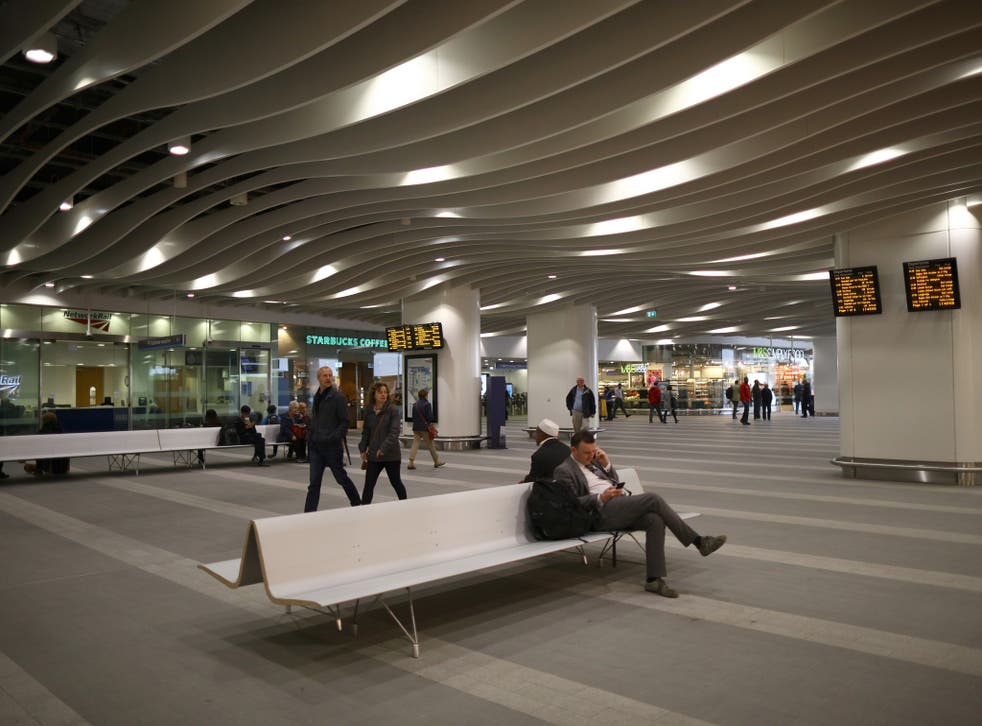 Birmingham New Street station where the pair demanded the victim leave the money