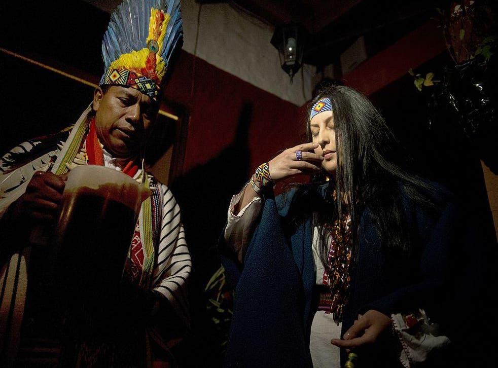 An ayahuasca ritual in La Calera, Colombia