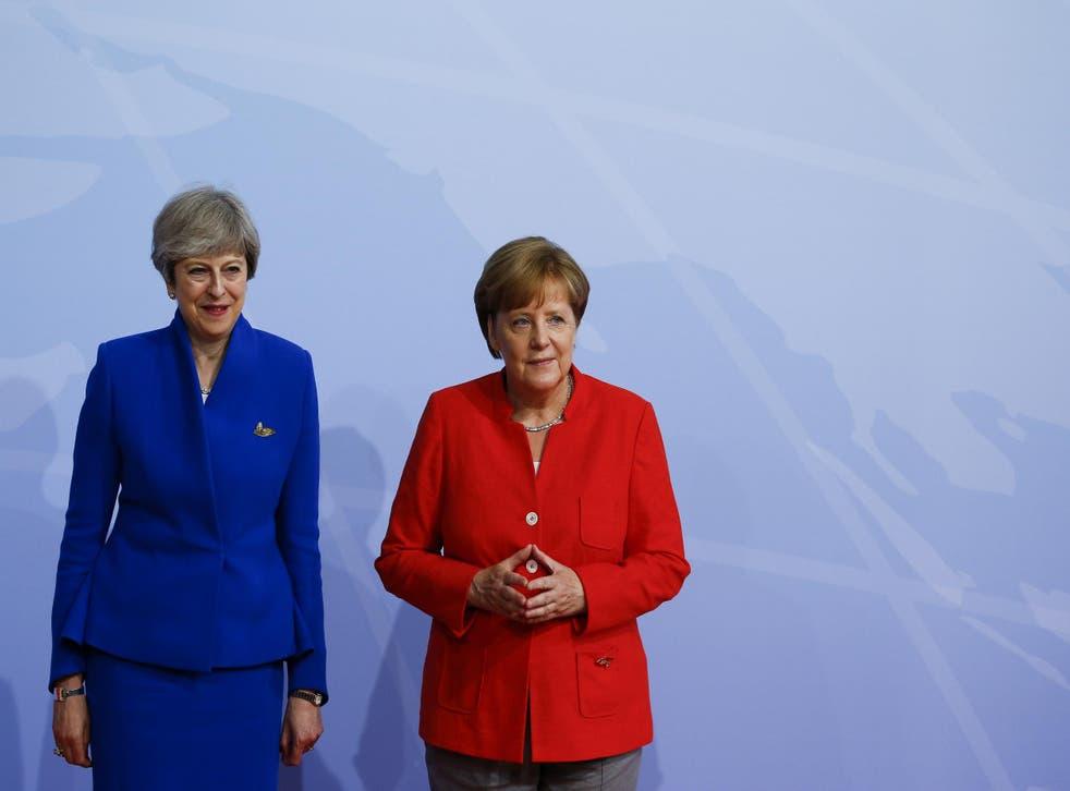 Theresa May and Angela Merkel met in Tallinn