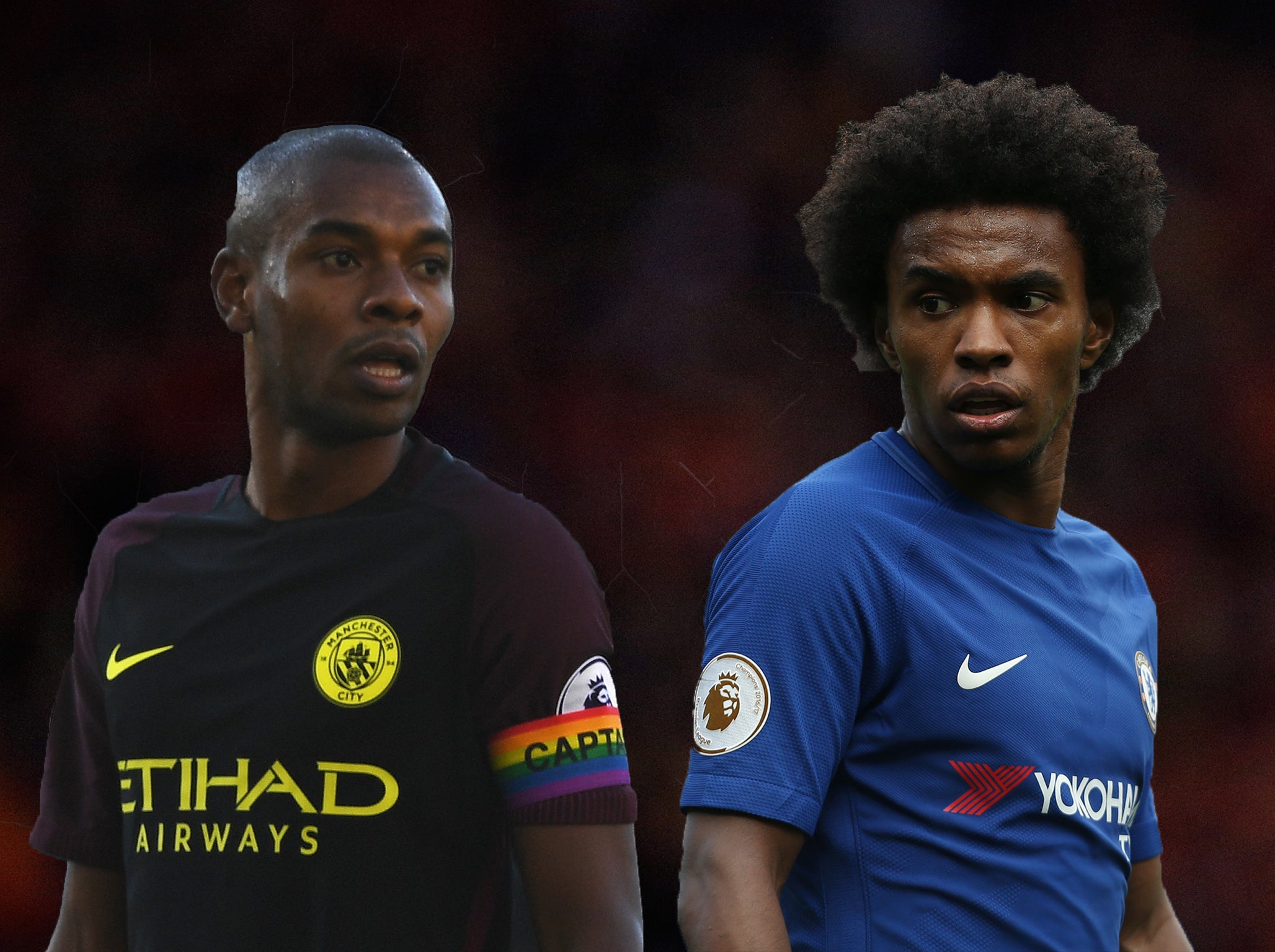 How Premier League stars Fernandinho and Willian have e a long
