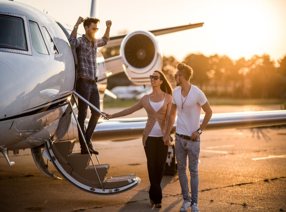 Fly to Europe every weekend for a year by private jet using the card