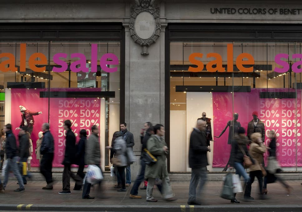 53815b7e0 UK retail spending dipped in December | The Independent