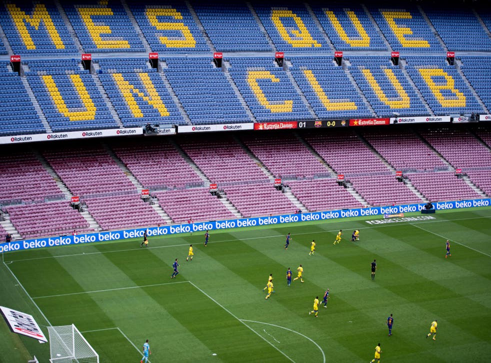 FC Barcelona played Las Palmas at an empty Nou Camp