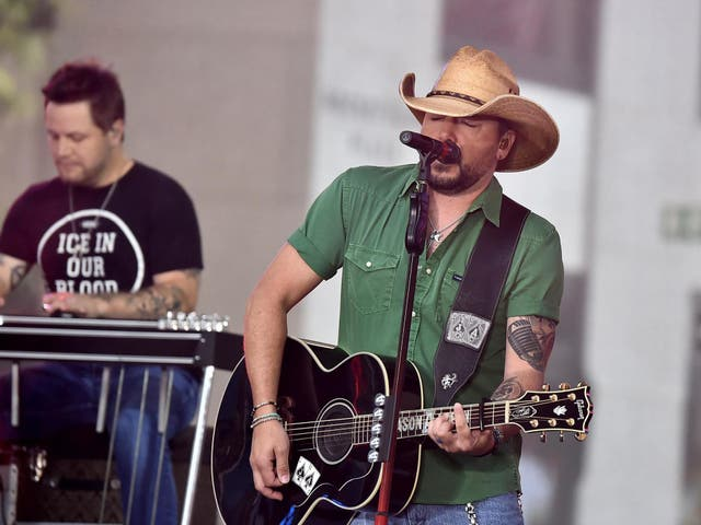 Country star Jason Aldean was performing in Las Vegas when at least one gunman opened fire on crowds
