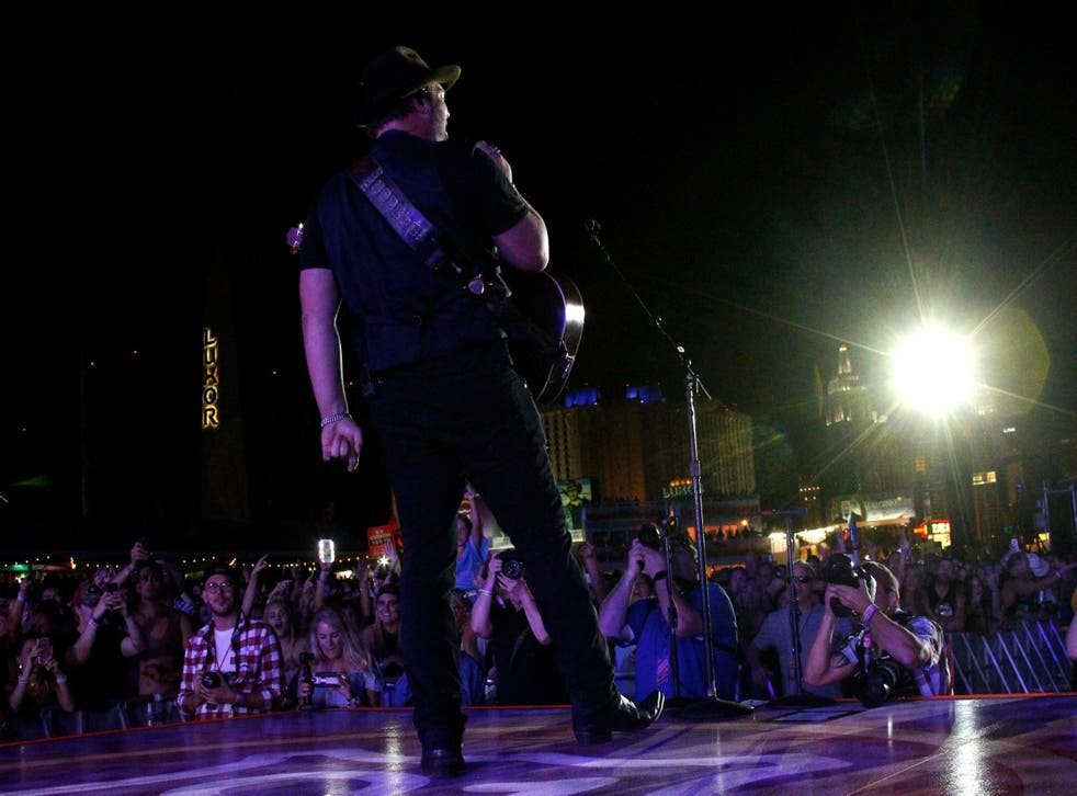 Lee Brice performing at the Route 91 Harvest Festival, Day 1, Las Vegas, USA - 29 Sep 2017