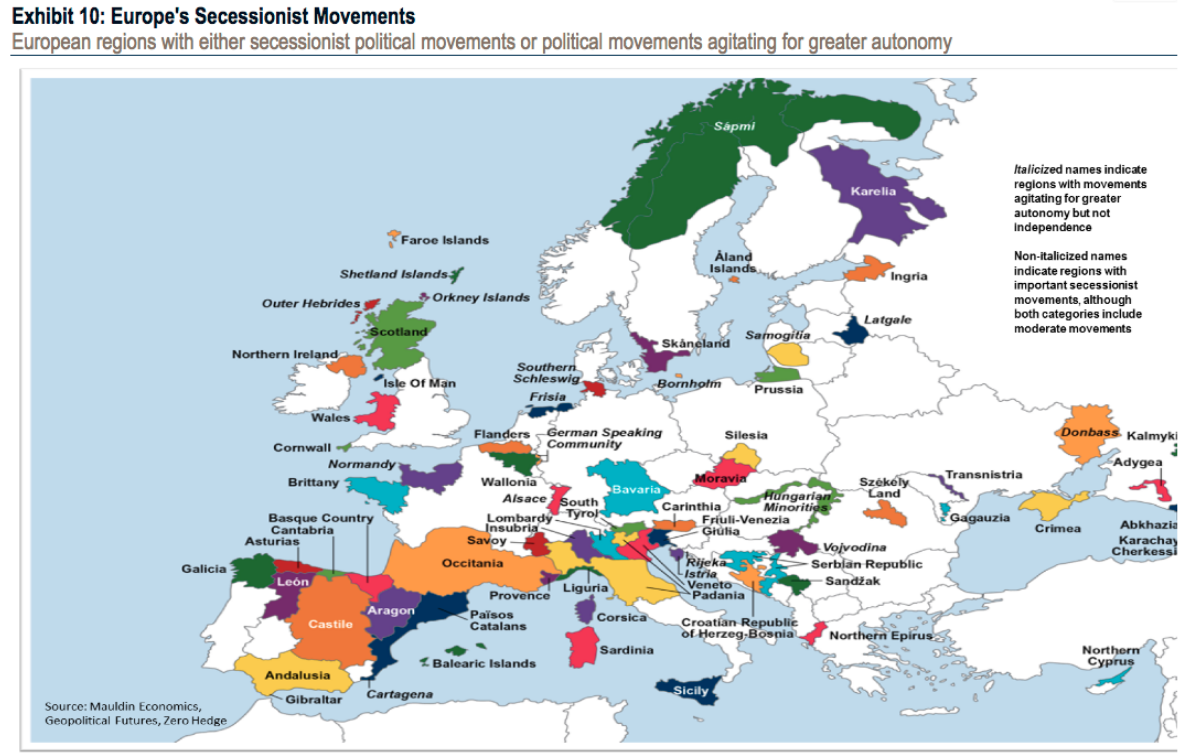 Map Of Uk In Europe.This Map Shows The European Regions Fighting To Achieve Independence