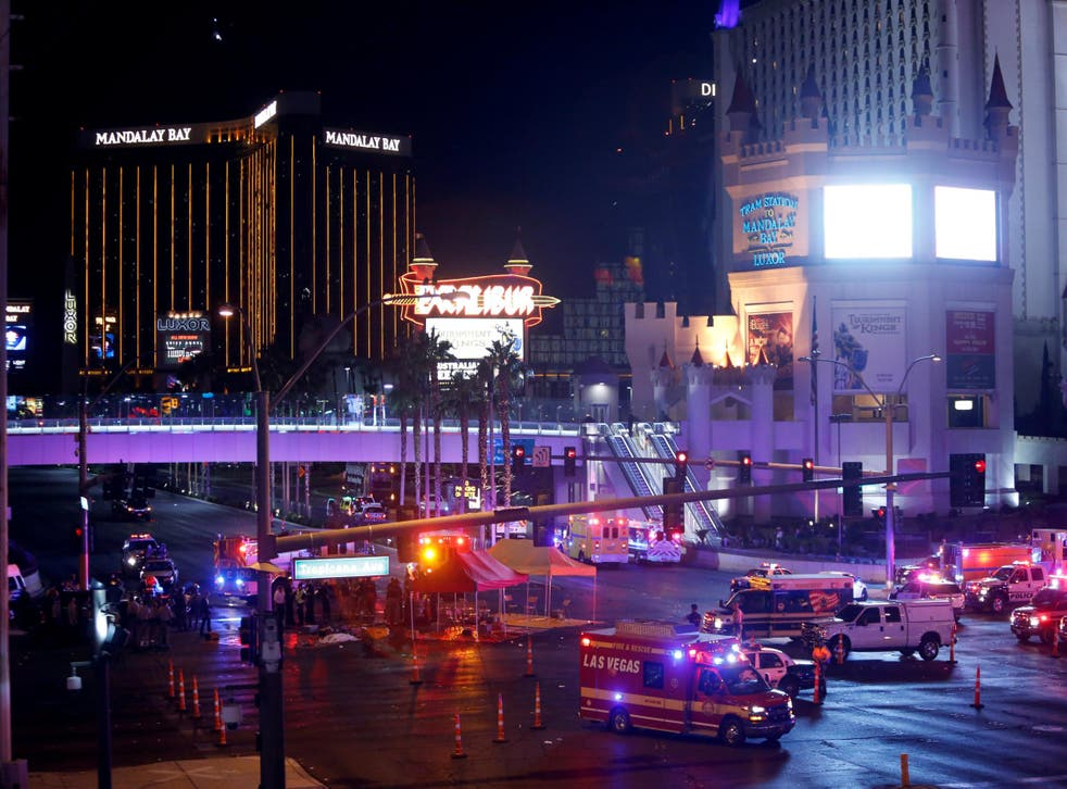 Las Vegas officials say that the shooter  used a 'weapon of mass destruction'