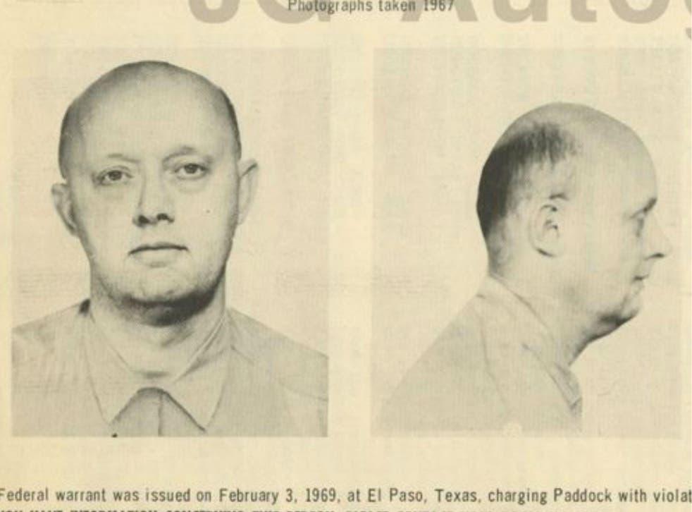 Patrick Benjamin Paddock, shown in an FBI wanted poster