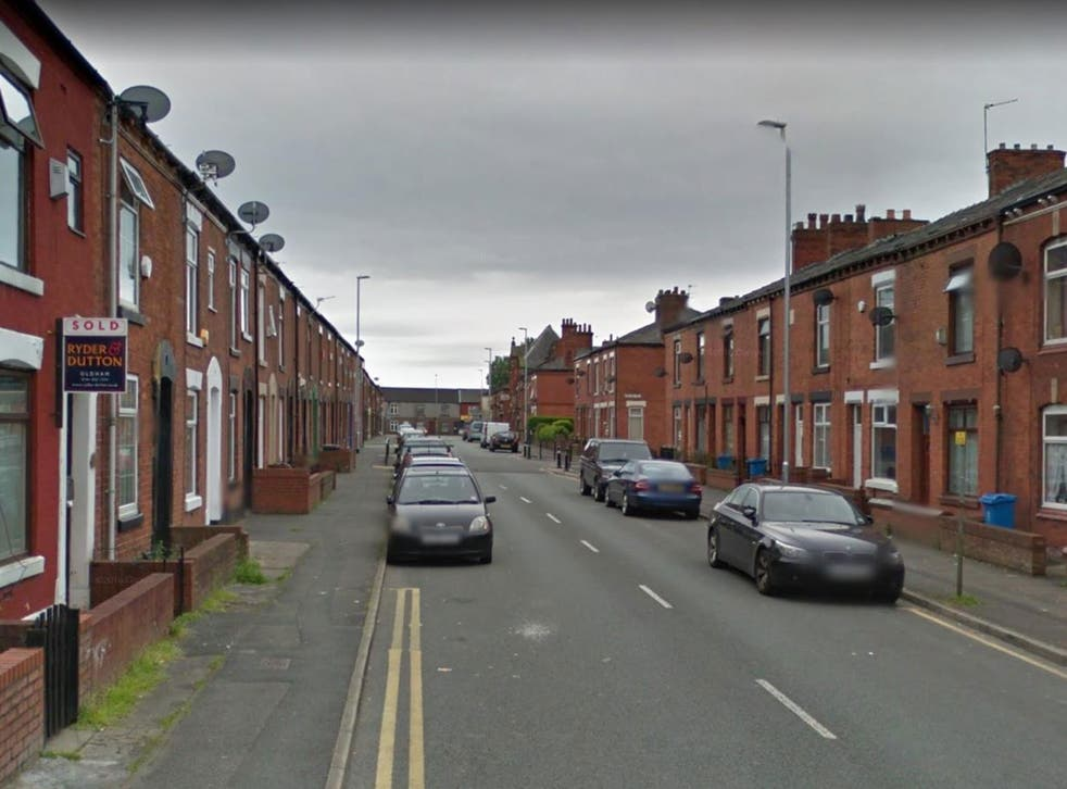 The attack happened in Chapel Road, Oldham, at around 10pm on Saturday